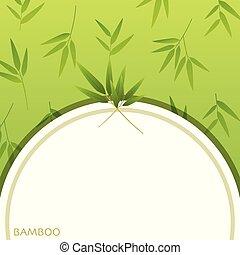 A Blank Green Bamboo Template