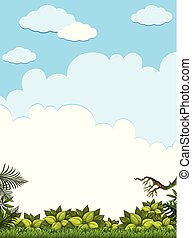 A Blank Green Jungle Template