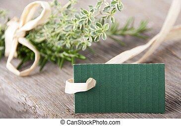 blank green label