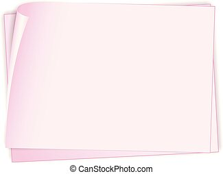 A blank paper note illustration