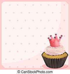 A blank paper with a cupcake
