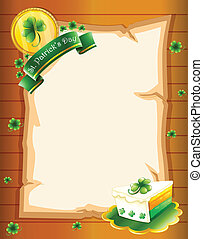 A blank paper with St. Patrick's Day greeting