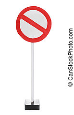 A blank road sign