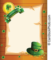 A blank sheet for St. Patrick's Day