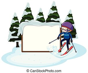 A Blank Ski and Snow Template