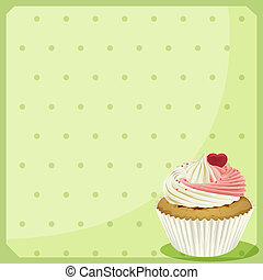 A blank stationery with a cupcake - Illustration of a blank...