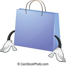A blue bag