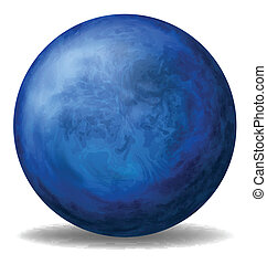 A blue ball