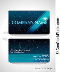 A blue business card design