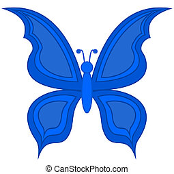 a blue butterfly