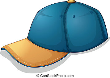 A blue cap - Illustration of a blue cap on a white...