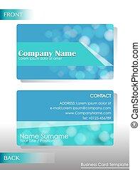 A blue card
