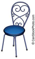 A blue chair furniture
