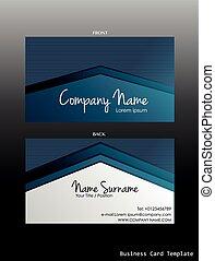 A blue coloured business card