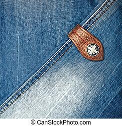 A Blue denim jeans texture. Fabric background