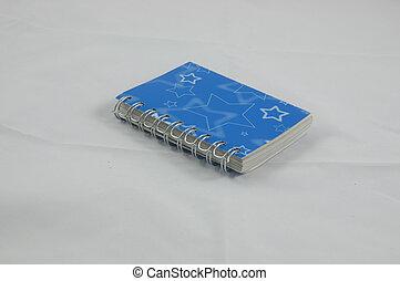 a blue diary