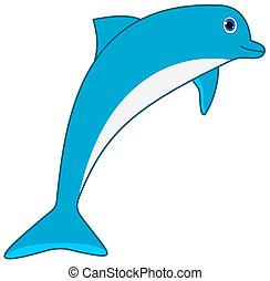 a blue dolphin