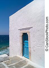 A blue door in Mykonos