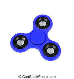 blue fidget spinner - a blue fidget spinner on a white ...