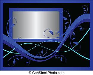 A blue formal floral background