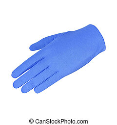 a blue glove isolated on white background