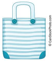A blue handy bag