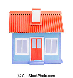 A blue model of house
