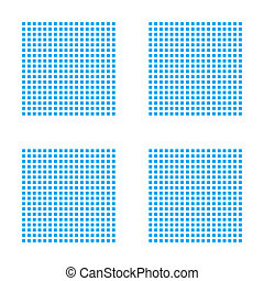 Blue Mosaic Icon Isolated on a White Background - Image Grid