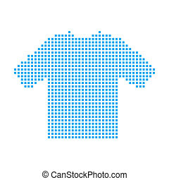 Blue Mosaic Icon Isolated on a White Background - Tshirt