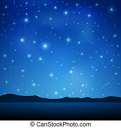 Night Sky - A Blue Night Sky with lots of Stars