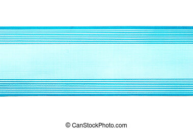 A blue ribbon on a white background.