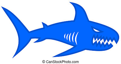 a blue shark with large jaw