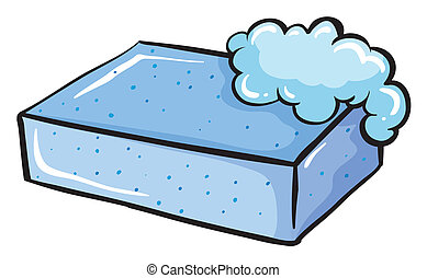 A blue soap - Illustration of a blue soap on a white...