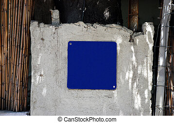 A blue square Street Sign