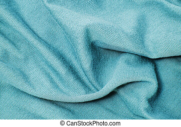 a blue textile on a white background
