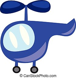 A blue toy helicopter for the kids vector or color illustration