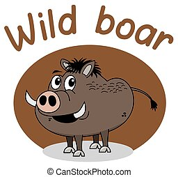 a boar on brown background