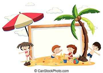 A board with summer holiday