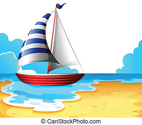 A boat at the beach