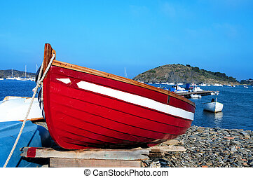 A boat in Portlligat, Cadaques, Spain