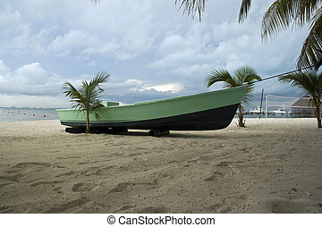A boat in the Beach