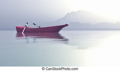 A boat on a mystic