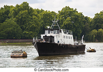 A boat on the river Thames