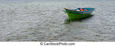 A Boat on the water
