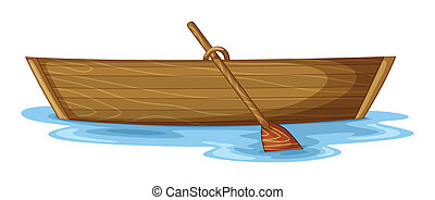 a boat - illustration of a boat on a white background