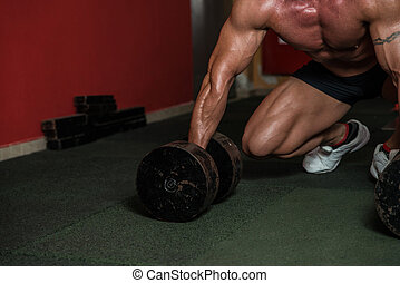 Concentrating For A Deadlift