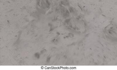 A Boiling Geyser Mud Pot, Laguna, Bolivia - Extreme close-up...