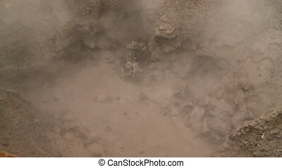 A Boiling Mud Pit At Sol De Ma?ana, Bolivia - Extreme...