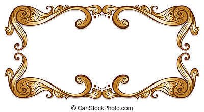 Illustration of a bold brown border on a white background