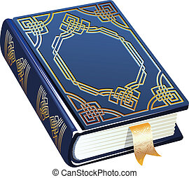 book - a book decorated with gold ornament